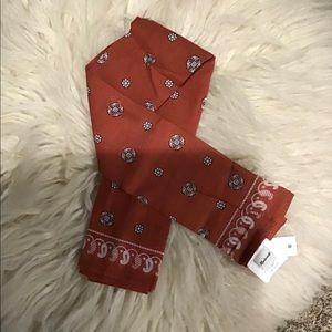 NEW Madewell Orange Rust Handkerchief Bandana